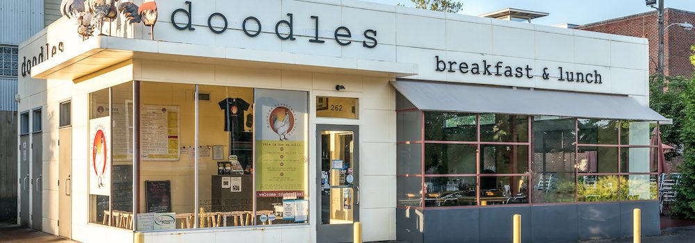 Exterior of Doodles Restaurant