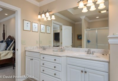 Master bath double sink vanity