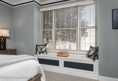 Window seat in the master bedroom